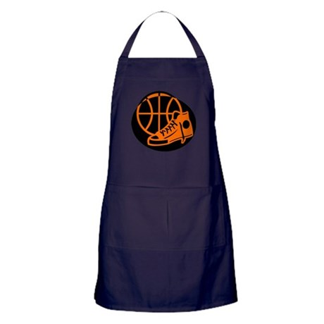 BASKETBALL *32* [orange} Apron (dark)