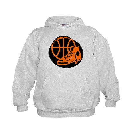 BASKETBALL *32* [orange} Kids Hoodie