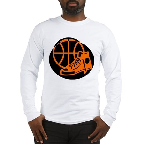 BASKETBALL *32* [orange} Long Sleeve T-Shirt