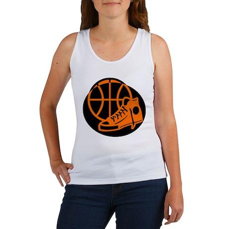 BASKETBALL *32* [orange} Women's Tank Top