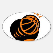 BASKETBALL *33* {orabge} Sticker (Oval)