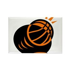 BASKETBALL *33* {orabge} Rectangle Magnet