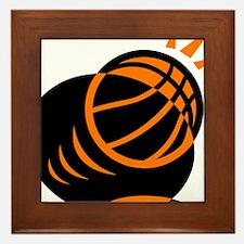 BASKETBALL *33* {orabge} Framed Tile