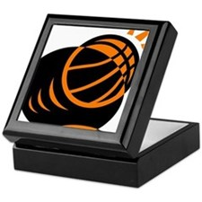 BASKETBALL *33* {orabge} Keepsake Box