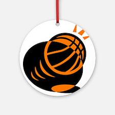 BASKETBALL *33* {orabge} Ornament (Round)