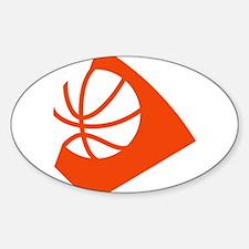 BASKETBALL *34* {orange} Sticker (Oval)