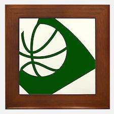 BASKETBALL *34* {green} Framed Tile