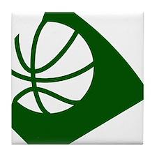 BASKETBALL *34* {green} Tile Coaster