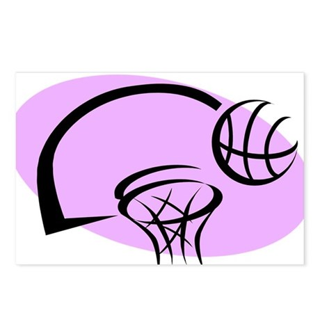 BASKETBALL *35* {purple} Postcards (Package of 8)