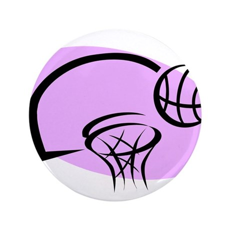 "BASKETBALL *35* {purple} 3.5"" Button (100 pack)"