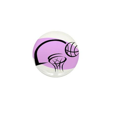 BASKETBALL *35* {purple} Mini Button (100 pack)