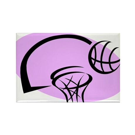 BASKETBALL *35* {purple} Rectangle Magnet (100 pac