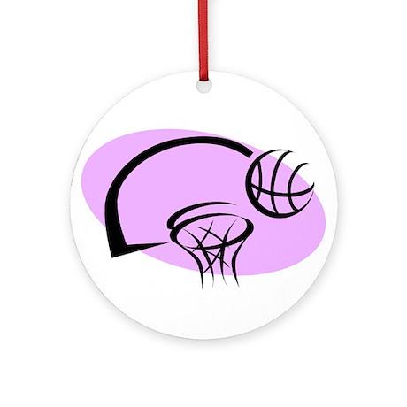 BASKETBALL *35* {purple} Ornament (Round)