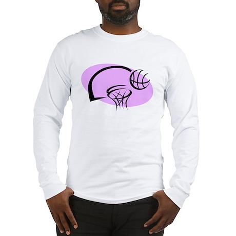 BASKETBALL *35* {purple} Long Sleeve T-Shirt