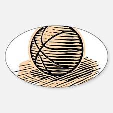 BASKETBALL *36* Sticker (Oval)