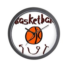 BASKETBALL *36* {crimson} Wall Clock