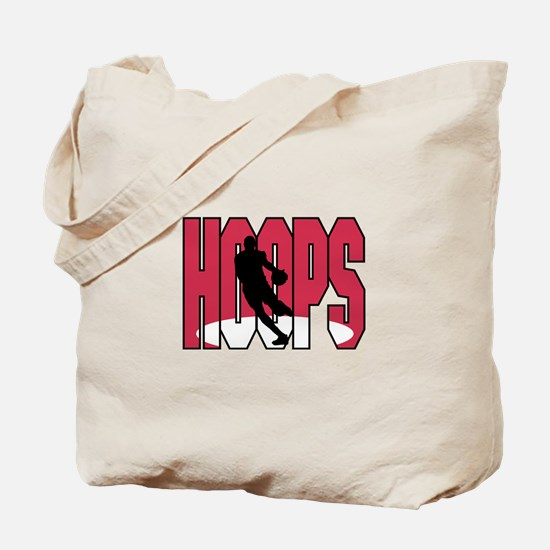 HOOPS *1* {red/white} Tote Bag