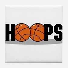 HOOPS *2* {black} Tile Coaster