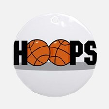 HOOPS *2* {black} Ornament (Round)