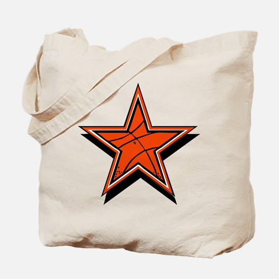 BASKETBALL STAR {orange} Tote Bag