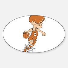 BASKETBALL *40* {lt orange} Sticker (Oval)