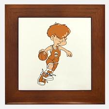 BASKETBALL *40* {lt orange} Framed Tile