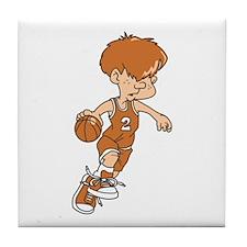BASKETBALL *40* {lt orange} Tile Coaster