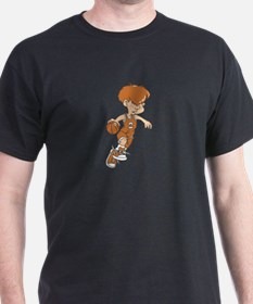 BASKETBALL *40* {lt orange} T-Shirt