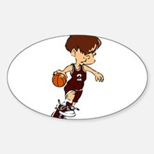 BASKETBALL *40* {crimson} Sticker (Oval)