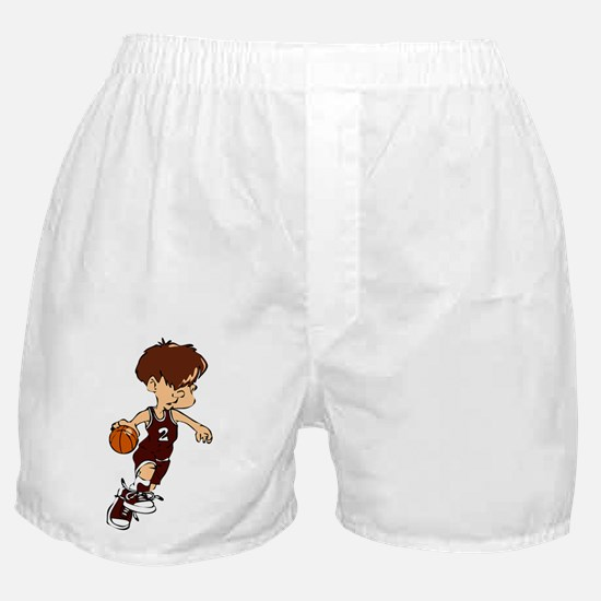 BASKETBALL *40* {crimson} Boxer Shorts