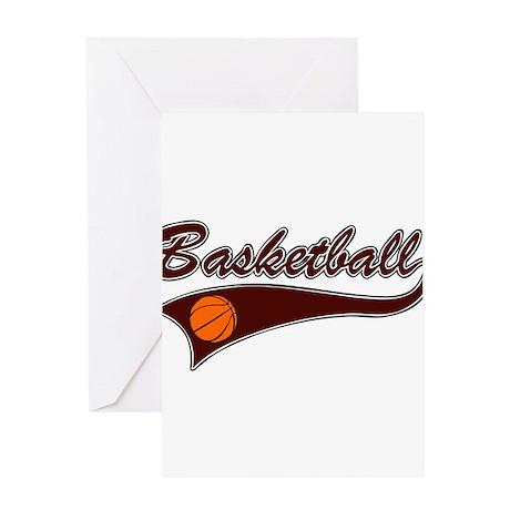 BASKETBALL *46* {crimson} Greeting Card