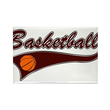BASKETBALL *46* {crimson} Rectangle Magnet (100 pa