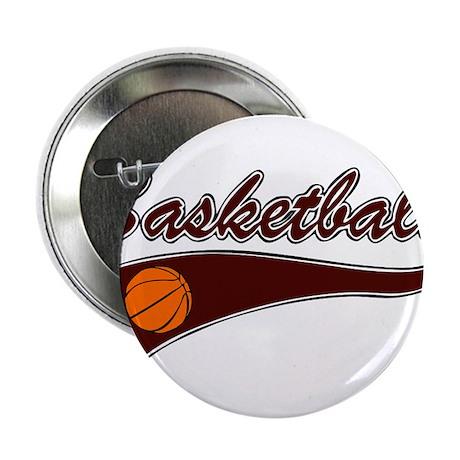 "BASKETBALL *46* {crimson} 2.25"" Button (100 pack)"