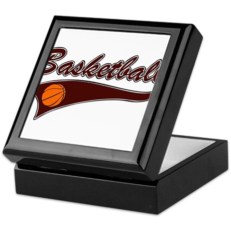 BASKETBALL *46* {crimson} Keepsake Box