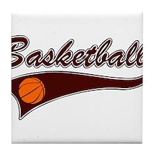 BASKETBALL *46* {crimson} Tile Coaster