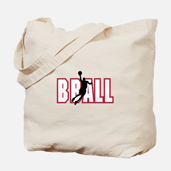 BBALL *1* {red} Tote Bag