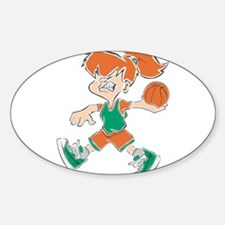 BASKETBALL *48* {orange/green Decal