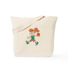 BASKETBALL *48* {orange/green Tote Bag