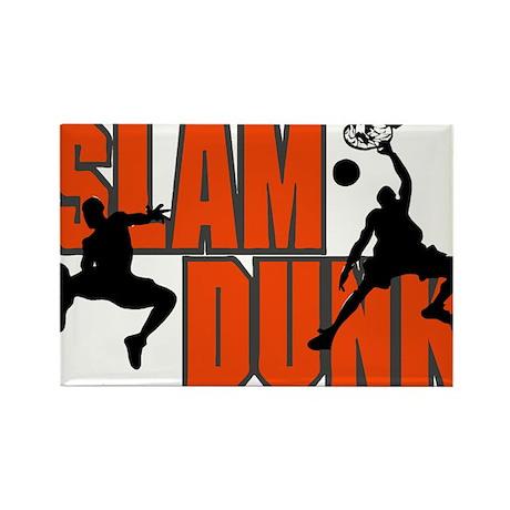 SLAM DUNK *1* {orange} Rectangle Magnet (100 pack)