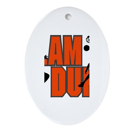 SLAM DUNK *1* {orange} Ornament (Oval)
