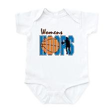 WOMENS HOOPS *1* {blue} Infant Bodysuit
