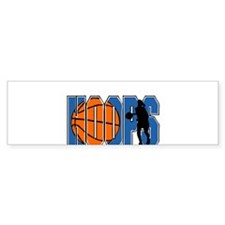 HOOPS *2* {blue} Bumper Sticker