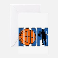 HOOPS *2* {blue} Greeting Card