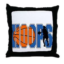 HOOPS *2* {blue} Throw Pillow
