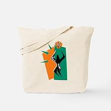 BASKETBALL *50* {orange/green Tote Bag