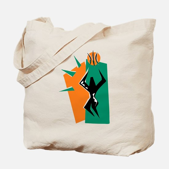BASKETBALL *50* {orange/green Tote Bag