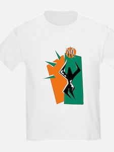 BASKETBALL *50* {orange/green T-Shirt