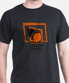 BASKETBALL *51* {orange} T-Shirt