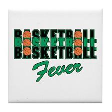 BASKETBALL FEVER {black/green Tile Coaster
