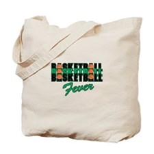 BASKETBALL FEVER {black/green Tote Bag